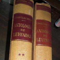 Libros de segunda mano: ANTOLOGÍA DE LEYENDAS LABOR 1958. GARCIA DE DIEGO. 2 VOLUMENES.. Lote 54364235