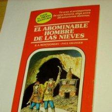 Libros de segunda mano: TIMUN MAS ELIGE TU PROPIA AVENTURA 4 EL ABOMINABLE HOMBRE DE LAS NIEVES. Lote 54639359