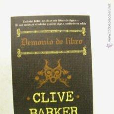 Libros de segunda mano: DEMONIO DE LIBRO. CLIVE BARKER. NUEVO LA FACTORÍA DE IDEAS.. Lote 195515840