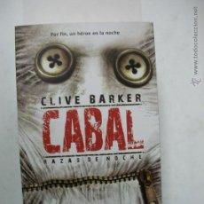 Libros de segunda mano: CABAL. CLIVE BARKER. NUEVO LA FACTORÍA DE IDEAS.. Lote 65815994