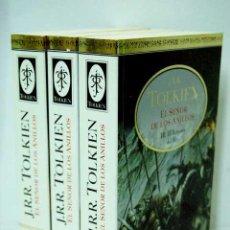 Libros de segunda mano: EL SEÑOR DE LOS ANILLOS TOLKIEN, J. R. R. ,MINOTAURO TAPA DURA,3 TOMOS. Lote 55020037