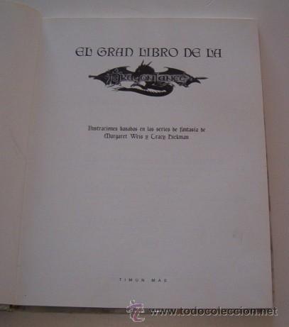 Libros de segunda mano: MARY KIRCHOFF (ED.). El Gran Libro de la Dragon Lance. RM73729. - Foto 2 - 55023698