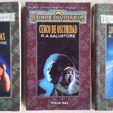 Libros de segunda mano: EL ELFO OSCURO,REINOS OLVIDADOS -SEGUNDA TRILOGIA - R.A.SALVATORE - TIMUN MAS 2004. Lote 55172760