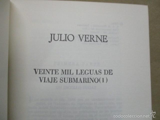 Libros de segunda mano: VIAJES EXTRAORDINARIOS - JULIO VERNE VEINTE MIL LEGUAS DE VIAJE SUBMARINO - EXCELENTE ESTADO - Foto 3 - 55378909