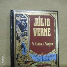 Libros de segunda mano: A CASA A VAPOR - VERNE, JULIO (RBA - EN PORTUGUES) EXCELENTE ESTADO. Lote 55379154