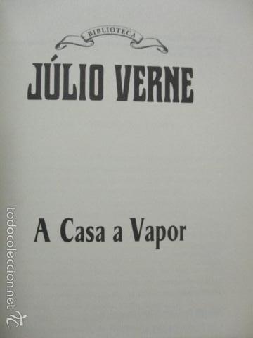 Libros de segunda mano: A casa a vapor - Verne, Julio (RBA - En Portugues) Excelente estado - Foto 3 - 55379154