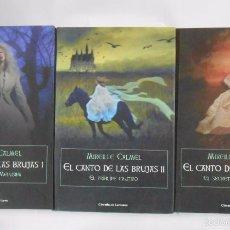 Libros de segunda mano: EL CANTO DE LAS BRUJAS. MIREILLE CALMEL. 3 TOMOS VOLUMENES. I, II Y III. TDK278. Lote 56371554