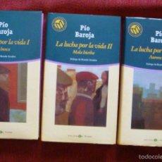 Libros de segunda mano: PÍO BAROJA TRILOGÍA LA LUCHA POR LA VIDA-LA BUSCA-MALA HIERBA-AURORA ROJA-BIBLIOTECA EL MUNDO 2001. Lote 57697237