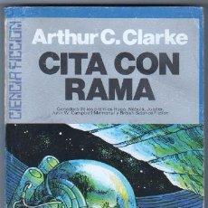 Libros de segunda mano: CITA CON RAMA Nº 1 - POR ARTHUR C. CLARKE - C.F.ULTRAMAR - 250 PGS. Lote 57738746