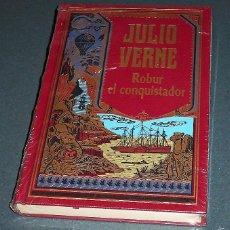 Libros de segunda mano: LIBRO - NOVELA JULIO VERNE: ROBUR EL CONQUISTADOR (RBA 2002). Lote 57832826