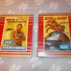 Libros de segunda mano: DOS LIBROS JULIO VERNE ROBUR EL CONQUISTADOR Y DUEÑO DEL MUNDO. Lote 57958039