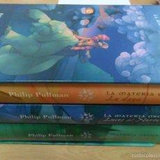 Libros de segunda mano: PHILIP PULLMAN. LA MATERIA OSCURA. TRES TOMOS. Lote 58808596