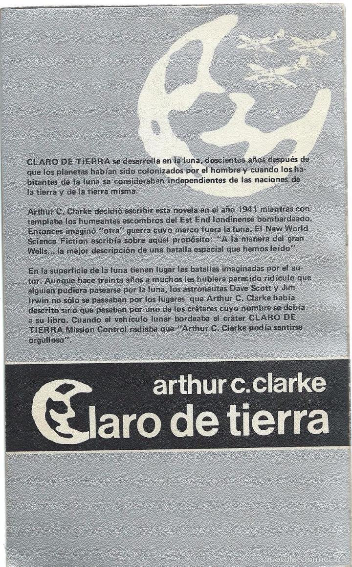 arthur c. clarke: claro de tierra. edhasa - Comprar Libros de ...