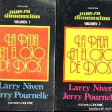 Libros de segunda mano: NIVEN / POURNELLE : LA PAJA EN EL OJO DE DIOS - DOS TOMOS (DRONTE, 1976). Lote 63092600