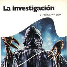 Libros de segunda mano: STANISLAW LEM : LA INVESTIGACIÓN (BRUGUERA, 1977) . Lote 63120096