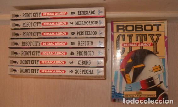 VV. AA. ROBOT CITY DE ISAAC ASIMOV. OCHO TOMOS. RMT77077. (Libros de Segunda Mano (posteriores a 1936) - Literatura - Narrativa - Ciencia Ficción y Fantasía)