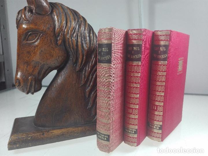 LAS MIL Y UNA NOCHES - 3 VOLÚMENES - EDITORIAL IBERIA - OBRAS MAESTRAS - 1956 - (Libros de Segunda Mano (posteriores a 1936) - Literatura - Narrativa - Ciencia Ficción y Fantasía)
