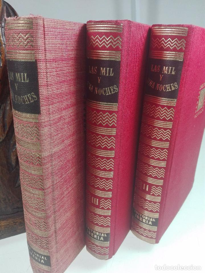 Libros de segunda mano: LAS MIL Y UNA NOCHES - 3 VOLÚMENES - EDITORIAL IBERIA - OBRAS MAESTRAS - 1956 - - Foto 2 - 63355404