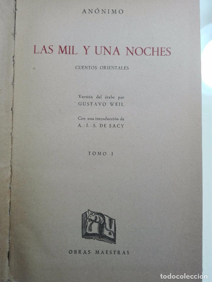 Libros de segunda mano: LAS MIL Y UNA NOCHES - 3 VOLÚMENES - EDITORIAL IBERIA - OBRAS MAESTRAS - 1956 - - Foto 4 - 63355404