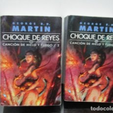 Libros de segunda mano: JUEGO DE TRONOS CHOQUE DE REYES I Y II GEORGE R R MARTIN CANCION HIELO Y FUEGO GIGAMESH . Lote 65705834