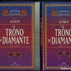Libros de segunda mano: EL TRONO DE DIAMANTE, VOL I Y II/ DAVID EDDINGS – SERIE ELENIUM / TIMUN MAS 1996 – NUEVO. Lote 68027185