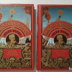 Libros de segunda mano: JULIO VERNE EN FRANCÉS - DELVILLE - HETZEL- LIBROS TAPA DURA . Lote 69551273