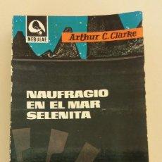 Libros de segunda mano: NAUFRAGIO EN EL MAR SELENITA DE EDHASA COLECCION NEBULAE Nº 100 AÑO 1964 CIENCIA FICCION ORIGINAL. Lote 70098301
