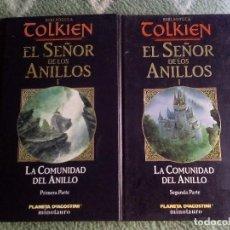 Libros de segunda mano: BIBLIOTECA TOLKIEN - EL SEÑOR DE LOS ANILLOS - LA COMUNIDAD DEL ANILLO. Lote 70251393