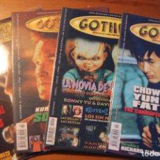 Libros de segunda mano: REVISTA GOTHAM. REVISTA CINE FANTÁSTICO. LOTE DE 4 NÚMEROS. Lote 72193111