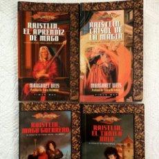 Libros de segunda mano: DRAGONLANCE. FORJA DE UN TÚNICA NEGRA COMPLETA, VOL 1, 2, 3 Y 4. MARGARET WEIS Y TRACY HICKMAN.. Lote 73738537