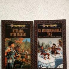 Libros de segunda mano: DRAGONLANCE. COMPAÑEROS DE LA DRAGONLANCE, VOL 2 Y 3.. Lote 73739269