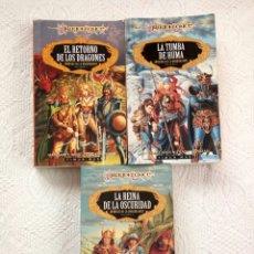 Libros de segunda mano: DRAGONLANCE. TRILOGÍA CRÓNICAS DE LA DRAGONLANCE COMPLETA VOL 1, 2 Y 3. MARGARET WEIS Y TRACY HICKMA. Lote 73742521