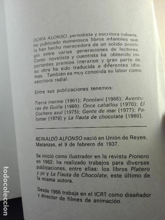 Libros de segunda mano: EL VALLE DE LA PÁJARA PINTA - DORA ALONSO - ILUSTRACIONES REYNALDO ALFONSO - CUBA - ÚNICO - 1984 - - Foto 7 - 75574243