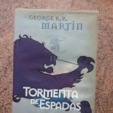 Libros de segunda mano: TORMENTA DE ESPADAS, EDICION ESPECIAL GIGAMESH,PRIMERA. CANCIÓN DE HIELO Y FUEGO/ JUEGO DE TRONOS.. Lote 76786859