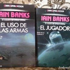 Libros de segunda mano: IAIN BANKS. EL JUGADOR Y EL USO DE LAS ARMAS. GRANSUPERFICCION, MARTINEZ ROCA.. Lote 77900053
