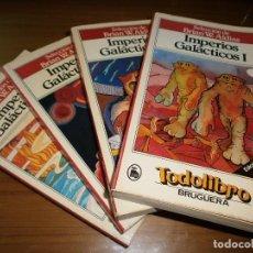 Libros de segunda mano: IMPERIOS GALACTICOS - BRIAN W. ALDISS - 4 TOMOS - TODOLIBRO - EDT. BRUGUERA, 1ª ED. 1981 - COMPLETA.. Lote 79962681