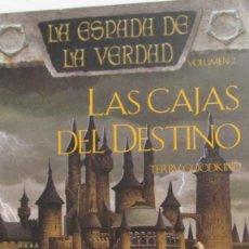 Libros de segunda mano: LAS CAJAS DEL DESTINO (LA ESPADA DE LA VERDAD VOLUMEN 2) DE TERRY GOODKIND (TIMUN MAS). Lote 80232065