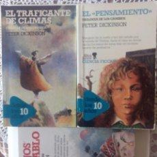 Libros de segunda mano: TRILOGIA LOS CAMBIOS(EL PENSAMIENTO,EL TRAFICANTE DE ARMAS,LOS HIJOS DEL DIABLO) DE PETER DICKINSON. Lote 81919304