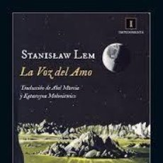 Libros de segunda mano: LA VOZ DEL AMO STANISLAW LEM,IMPEDIMENTA. Lote 194571135