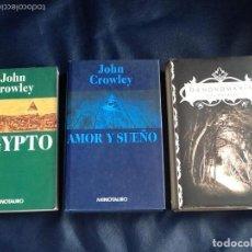 Libros de segunda mano: LA HISTORIA SECRETA DEL MUNDO: AEGYPTO, AMOR Y SUEÑO, DAEMONOMANIA. JOHN CROWLEY. MINOTAURO. DIFICIL. Lote 91446325