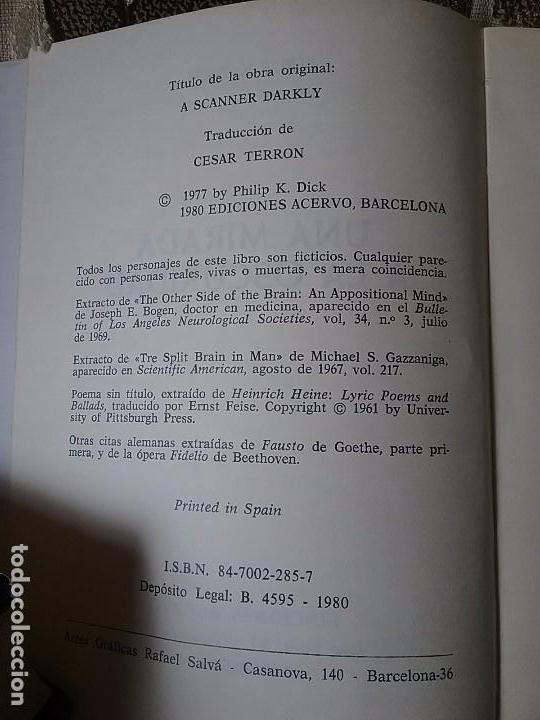 Libros de segunda mano: Una mirada a la oscuridad, de Philip K. Dick. Acervo Ciencia ficción, 1980. - Foto 3 - 94227270