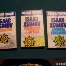 Libros de segunda mano: FUNDACIÓN + SEGUNDA FUNDACIÓN + FUNDACIÓN E IMPERIO - LOTE 3 LIBROS DE ISAAC ASIMOV - BRUGUERA. Lote 95799675