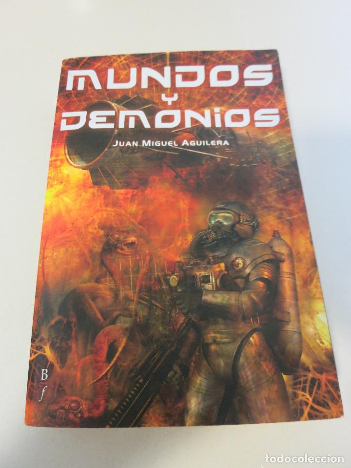 MUNDOS Y DEMONIOS CIENCIA FICCION JUAN MIGUEL AGUILERA (Libros de Segunda Mano (posteriores a 1936) - Literatura - Narrativa - Ciencia Ficción y Fantasía)