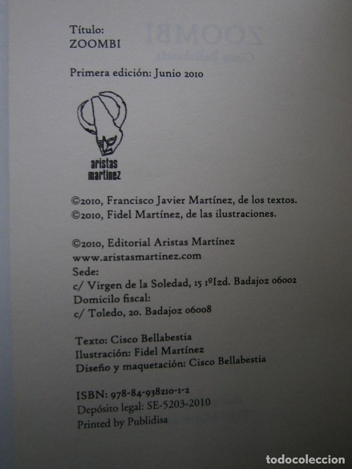 Libros de segunda mano: ZOOMBI CISCO BELLABESTIA Aristas Martinez 2010 - Foto 7 - 98982751