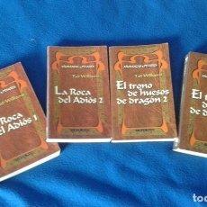 Libros de segunda mano: TAD WILLIAMS - AÑORANZAS Y PESARES - COMPLETA EN 4 TOMOS - TIMUN MAS. Lote 99056563