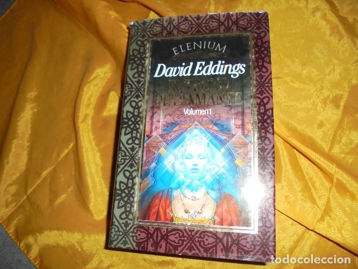 EL TRONO DE DIAMANTE. VOL. 1. DAVID EDDINGS. TIMUN MAS, COL. ELENIUM , 1990 (Libros de Segunda Mano (posteriores a 1936) - Literatura - Narrativa - Ciencia Ficción y Fantasía)