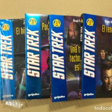 Libros de segunda mano: CIENCIA FICCION. GRIJALBO. STAR TREK. LOTE DE 4 DE 14 LIBROS ( 9,10,11Y12). 1ª EDICIÓN 1994. Lote 103039991