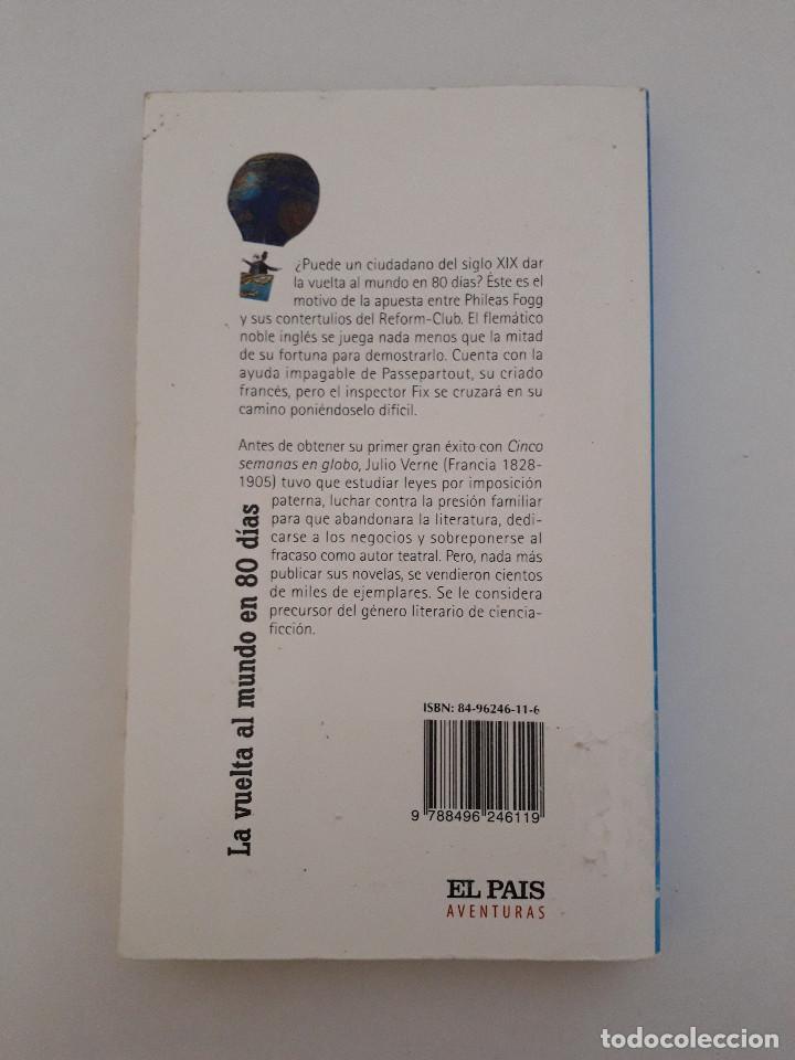 Libros de segunda mano: Libro - La vuelta al mundo en 80 dias - Julio Verne - El pais - Foto 2 - 103252411