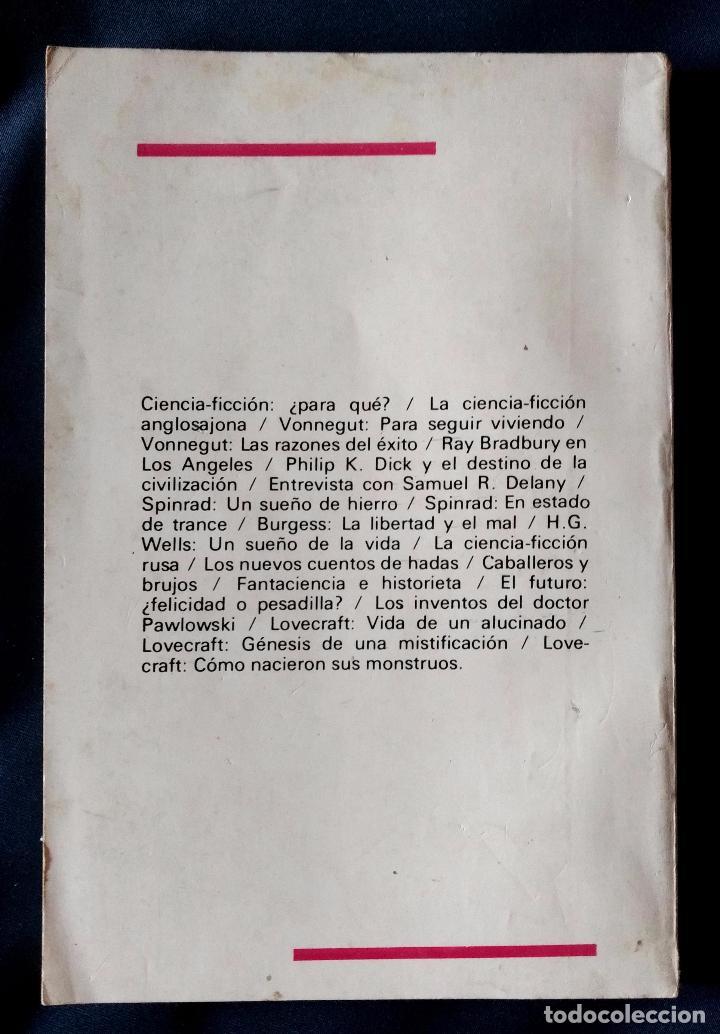 Libros de segunda mano: CIENCIA-FICCION, LA OTRA RESPUESTA AL DESTINO DEL HOMBRE | TIMERMAN EDITORES | 1976 (1ª ED.) - Foto 5 - 103463075