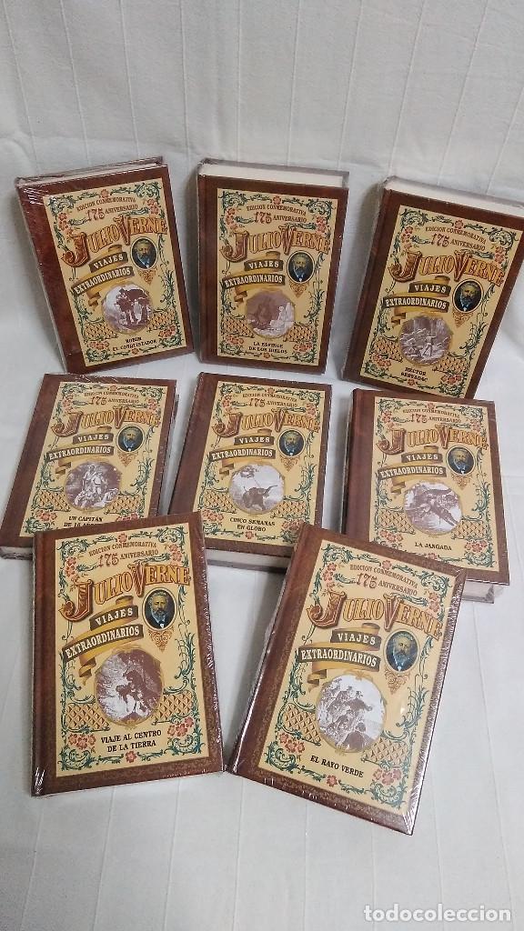 Libros de segunda mano: COLECCIÓN VIAJES EXTRAORDINARIOS - JULIO VERNE - 8 LIBROS ¡NUEVOS! - Foto 2 - 103723359